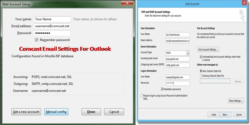 Comcast Email Settings For Outlook To Work With Utmost Ease