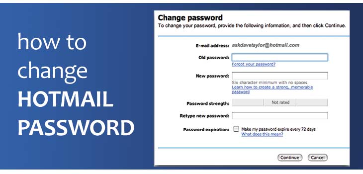 How To Change Hotmail Password, Hotmail