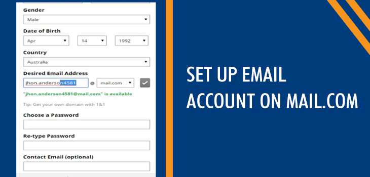 Set Up Email Account On Mail.Com