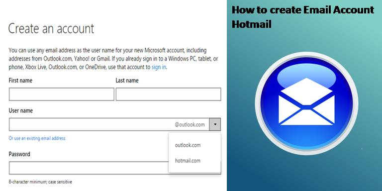 How to create Email Account Hotmail