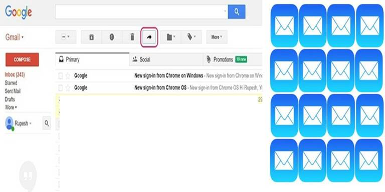 How to Forward Multiple E-Mails in Gmail
