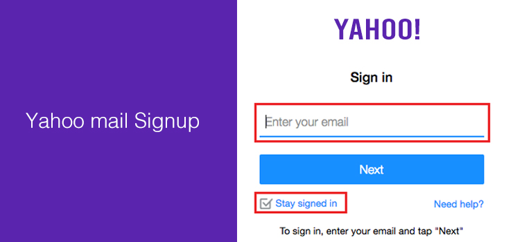 Yahoo mail Signup